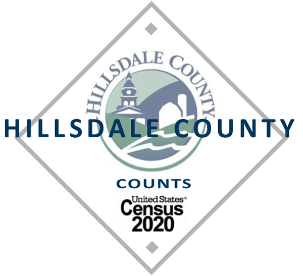 Census 2020 Hillsdale triangle logo